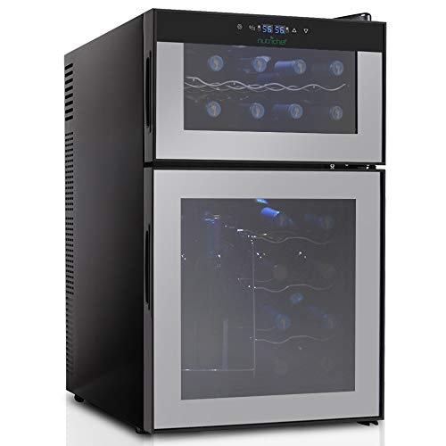 Nutrichef PKTEWC24 Wine Cellar 24 Bottle Wine Cooler Fridge