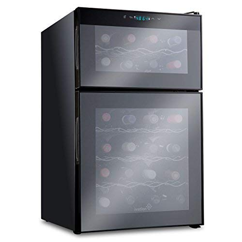 Ivation IV-FWCT242B 24 Bottle Dual Zone Wine Cooler