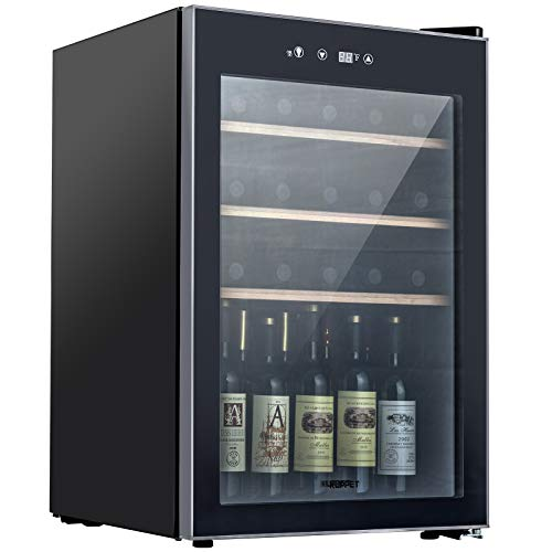 KUPPET Compressor 36 Bottle Wine Cooler, Counter Top Wine...