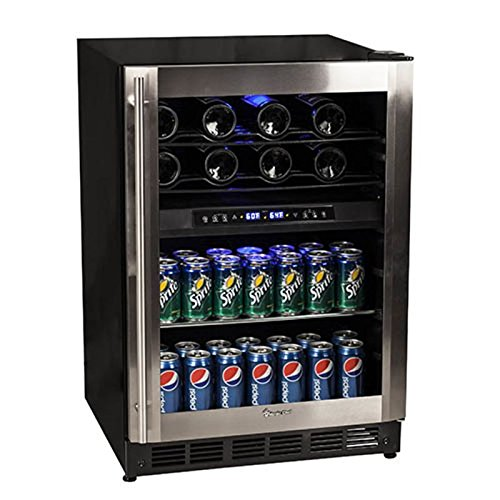 Magic Chef 44 Bottle Stainless Dual Zone Wine & Beverage...