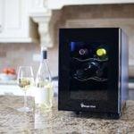 Magic Chef MCWC6B 6-Bottle Single-Zone Black Wine Cooler, 13 x 23 x 18 countertop wine cellar